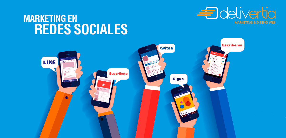 Diseño de Marketing en redes sociales con delivertia